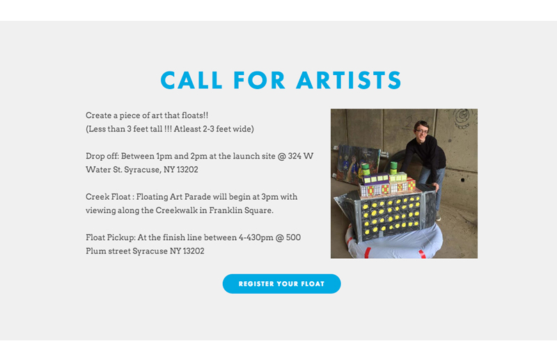 Creek Float Website Call For Artists
