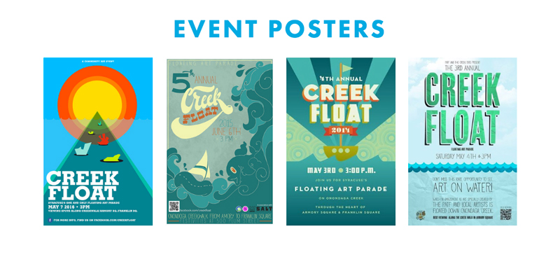 Creek Float Website Event Posters