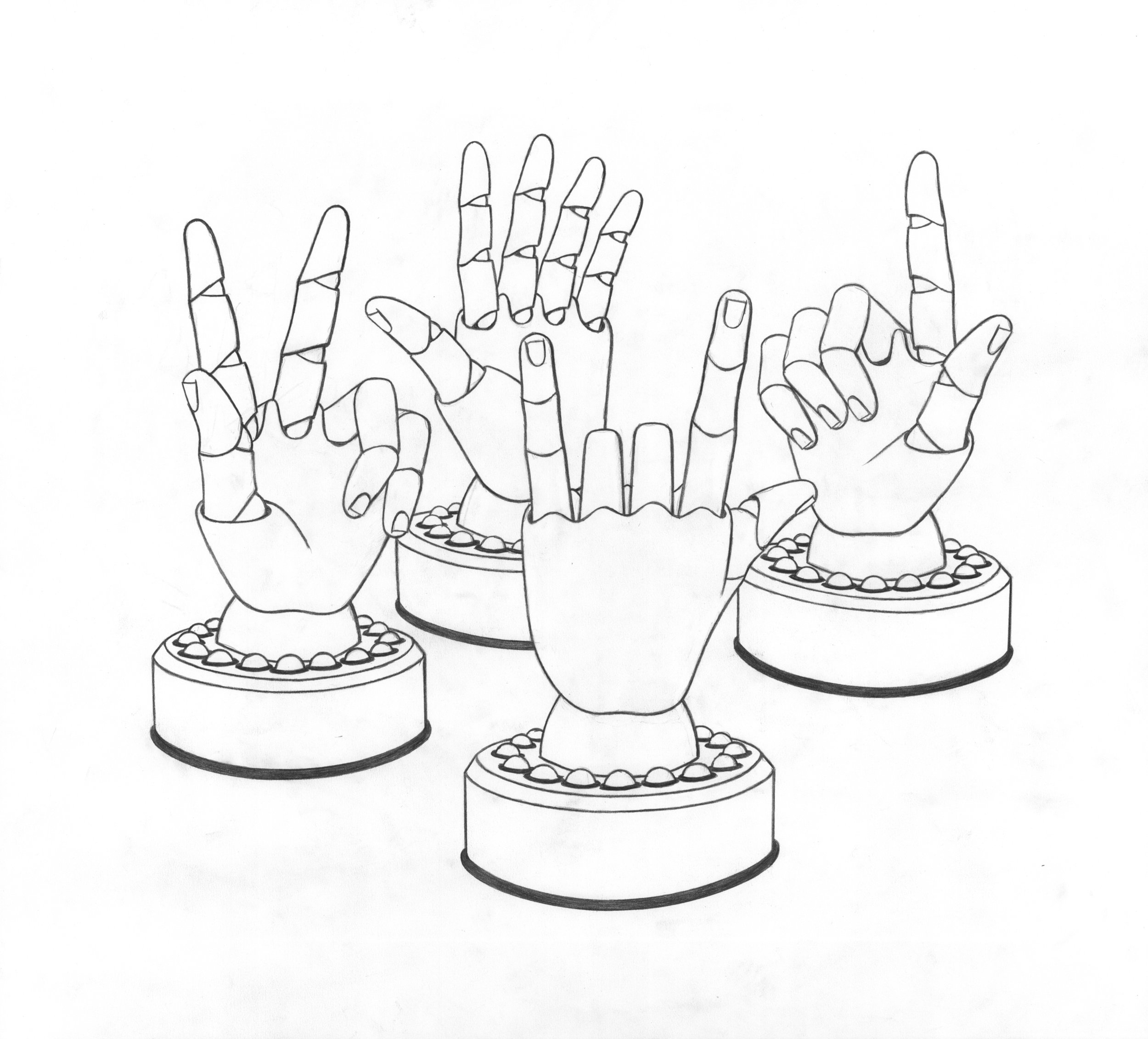 "Naked ""Talking Hands"""