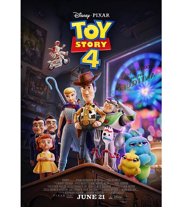 A new Toy Story 4 trailer dropped this morning, as did this poster I worked on. Super curious to hear everyone's thoughts about the trailer, let me know what you think!