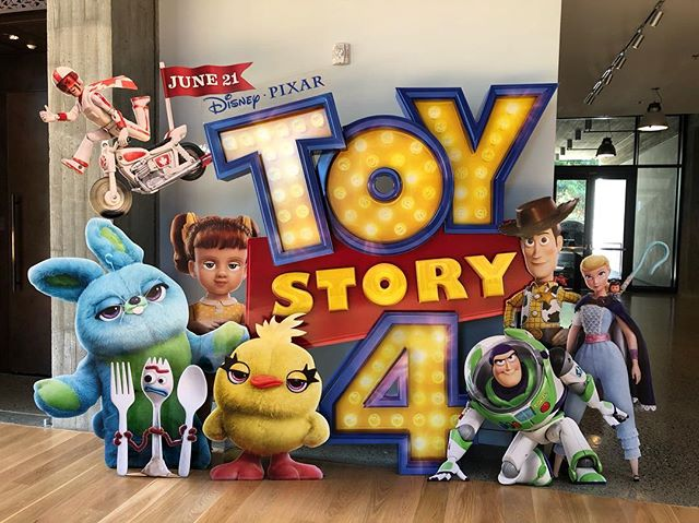 Back at work after a week away and was greeted by the Toy Story 4 standee!