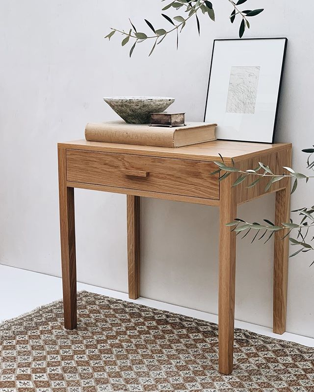 Olive nightstand in oak // made in LA