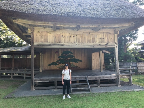 Daizen Noh Stage, Sado Island, July 2018
