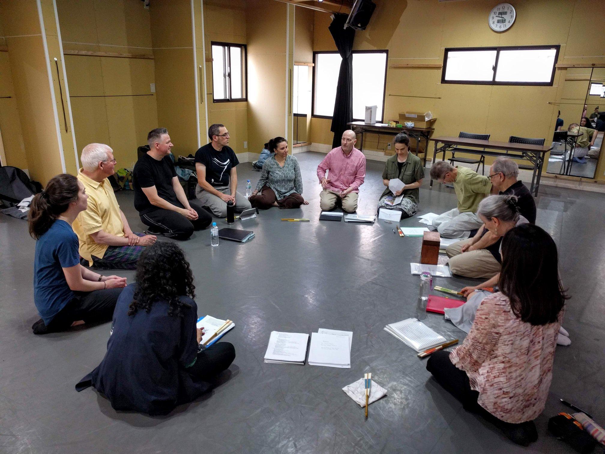 The Theatre Nohgaku Company kicking off rehearsals at Ryogoku Bear (両国BEAR) in Tokyo.