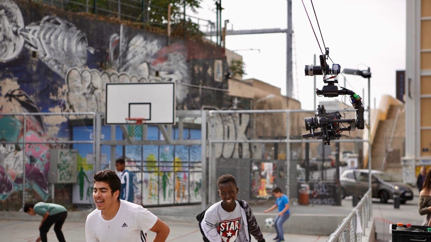 Basketball Cable Cam for sports and entertainment concerts