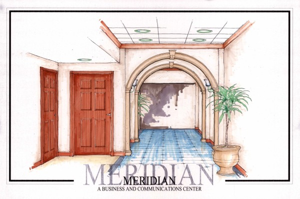 Interior Color Rendering for Elevator Lobby #2