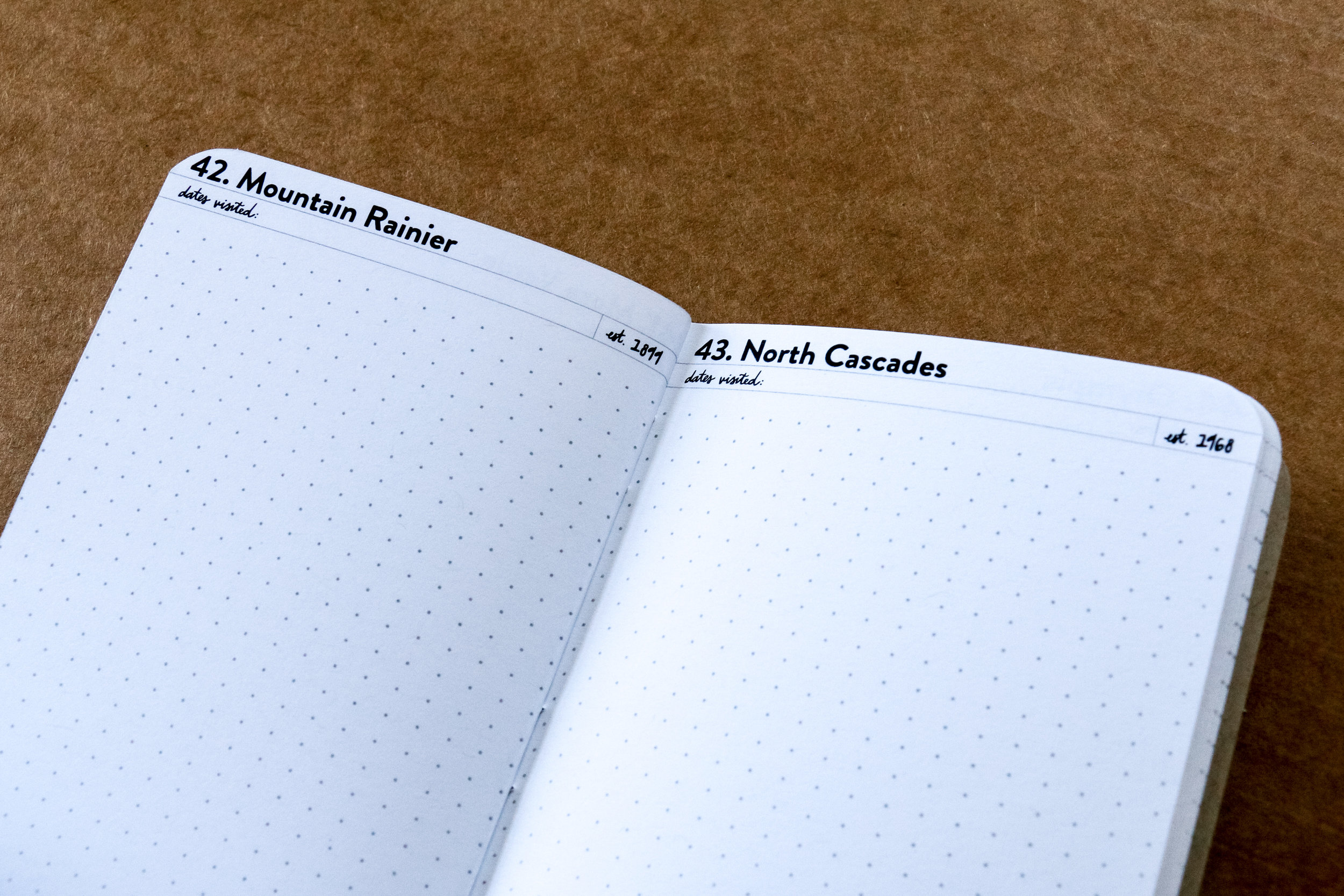 National Parks Log Book