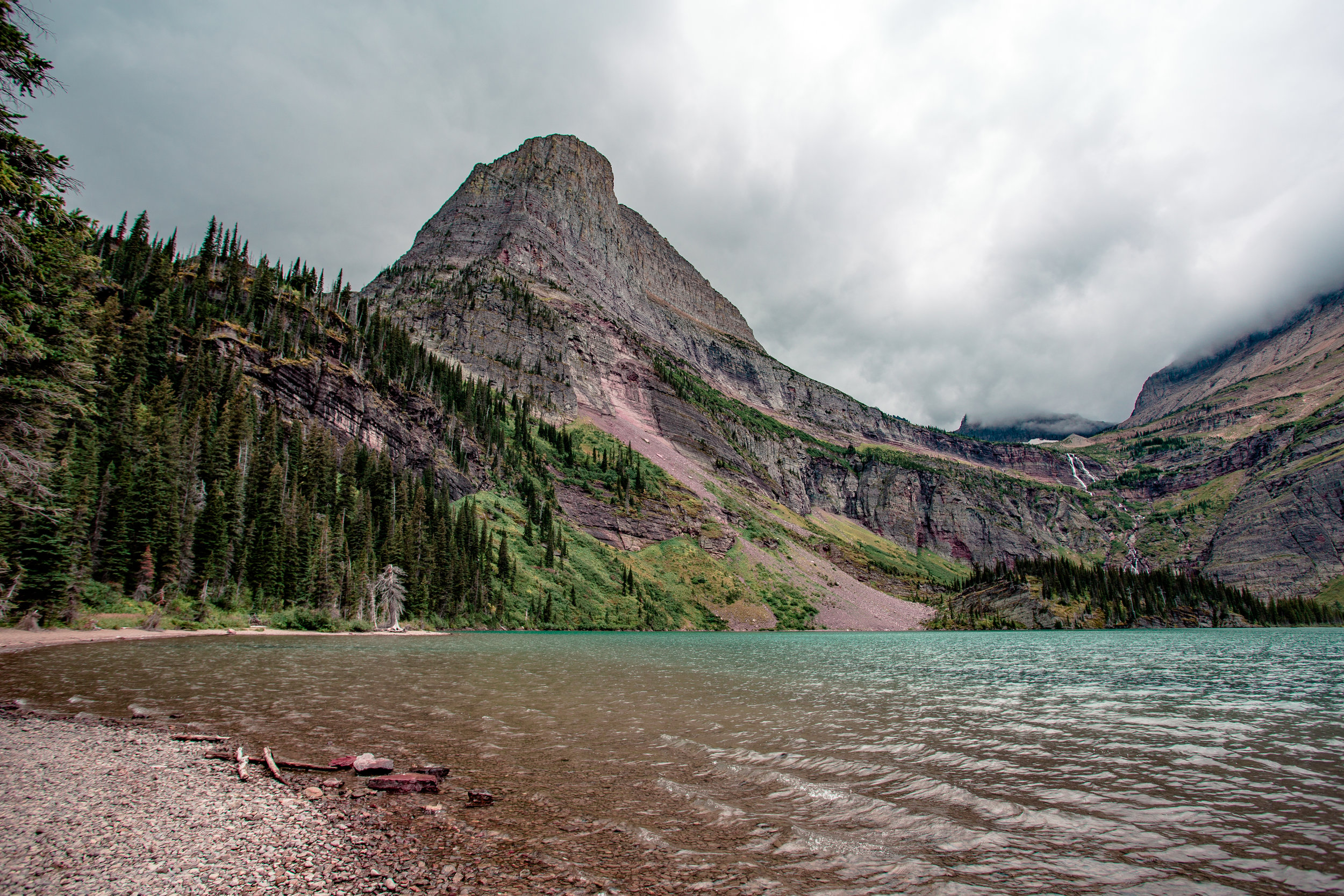 The milky aqua waters of Grinnell Lake