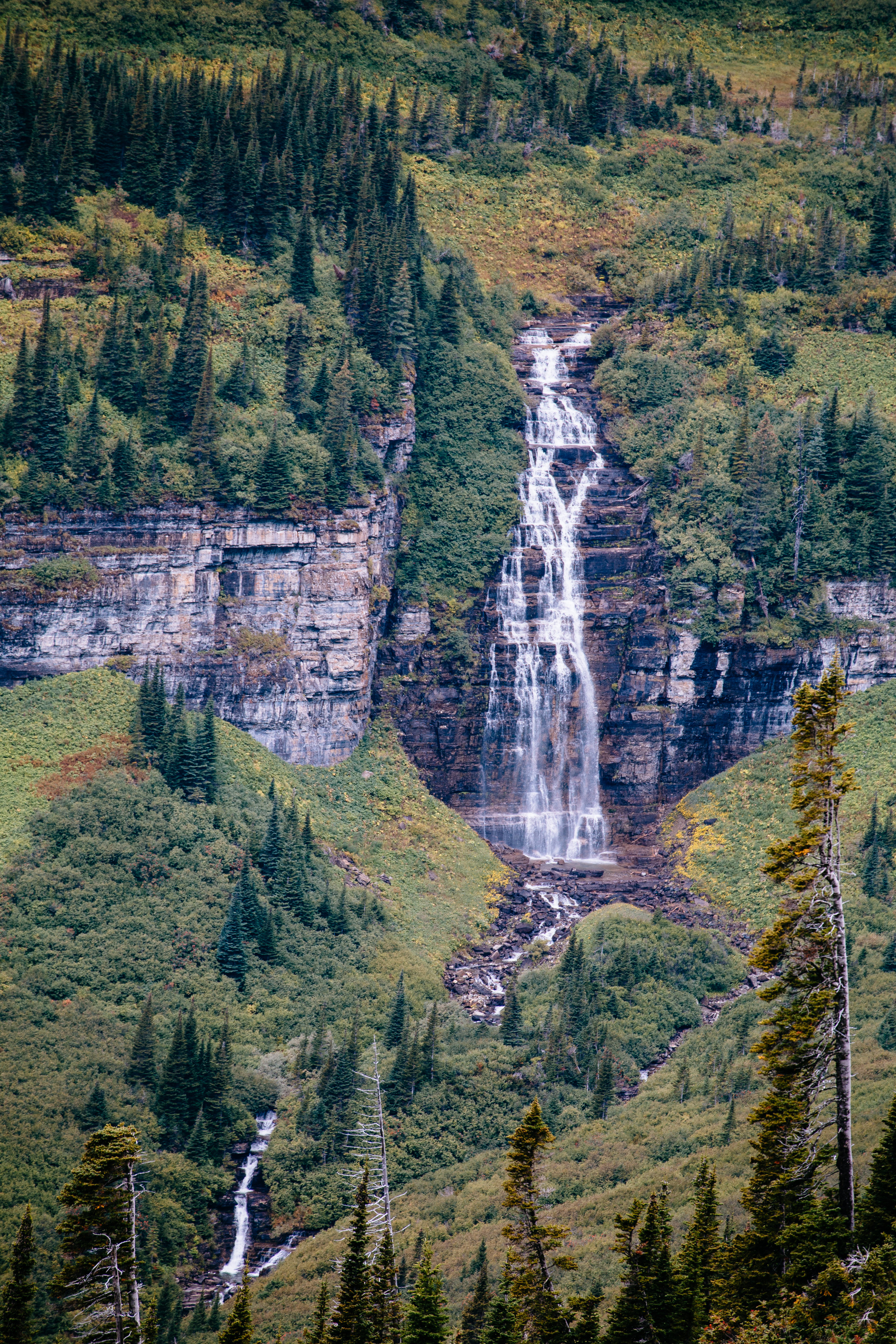One of the many waterfalls along Going-to-the-Sun Road