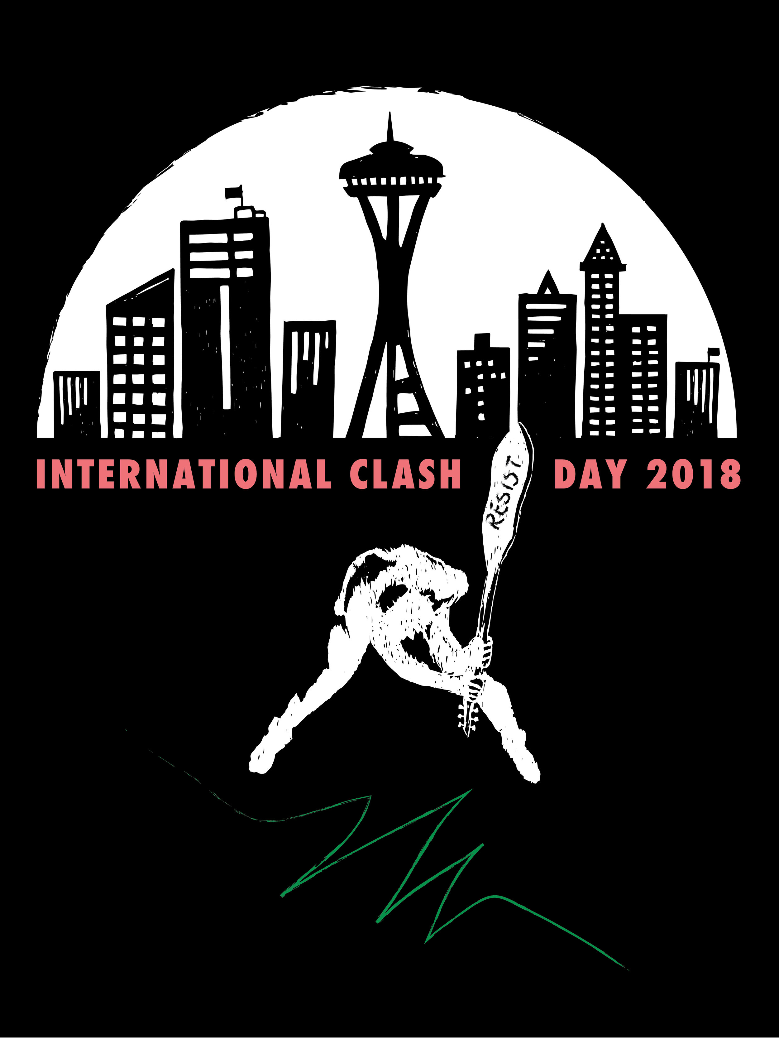 International Clash Day 2018 - I was one of 30 poster artists who participated in KEXP's International Clash Day 2018 on February 7th, 2018. These posters were on display in KEXP's gathering space in February & March 2018.Interested in purchasing this poster? Give me a shout in my