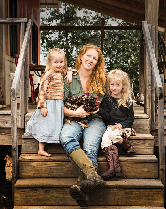 Katie Short and her daughters, Magnolia and Honey. Photo by Rett Peek.