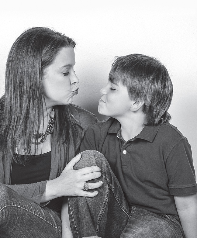 Kerri Jackson Case and her son, 8-year-old Jackson.   Photo by Dixie Knight