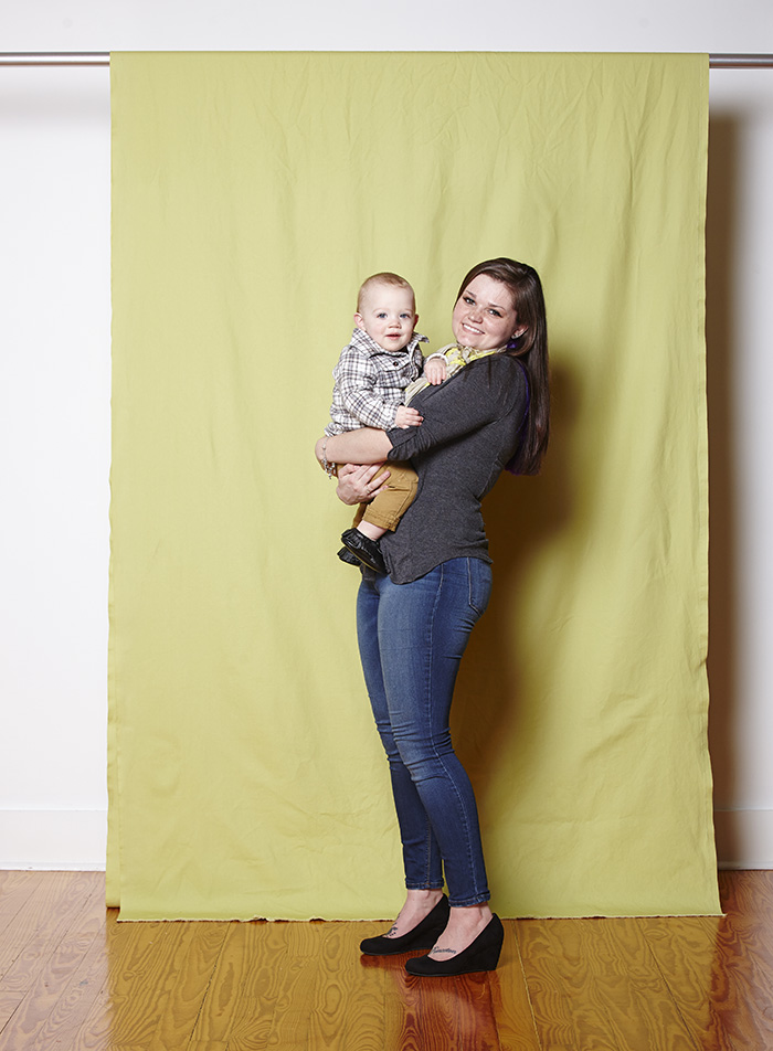 Sarah Barnett and her son, Cameron.  Photo by Lily Darragh