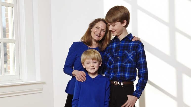 Leslie golden with sons adam, 14, and ryan, 8.