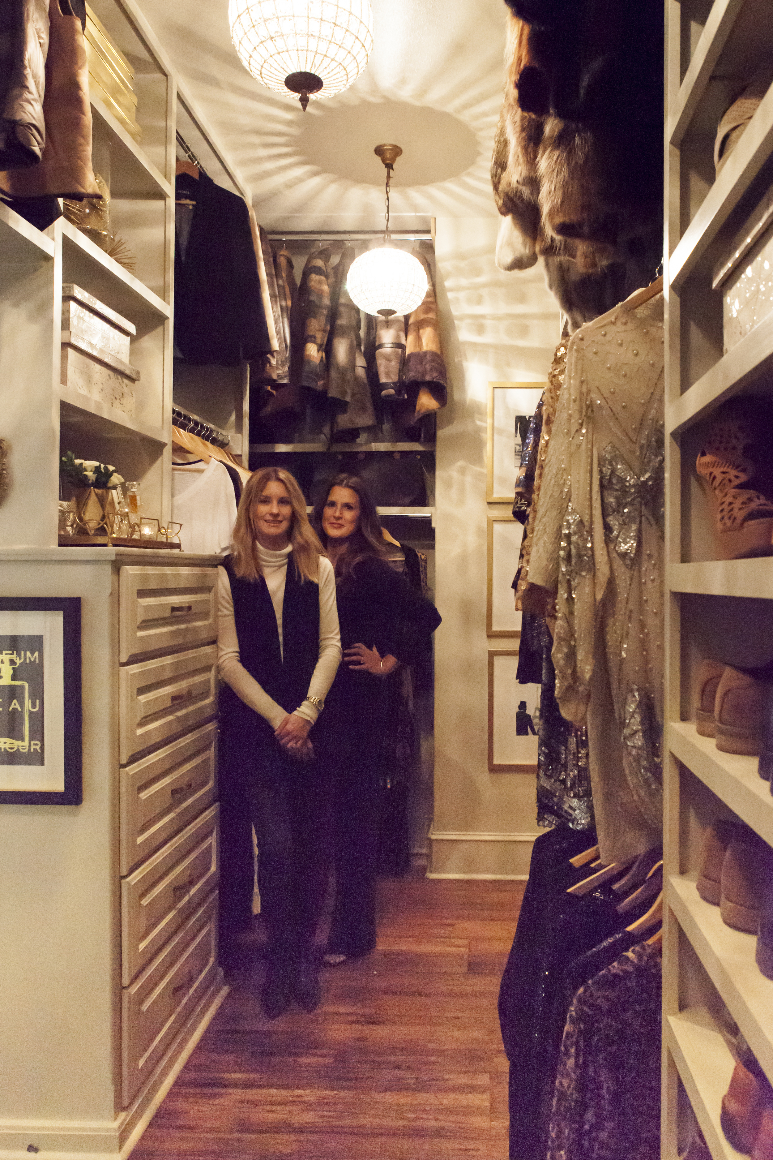Ashley and Carrie in her newly organized closet.