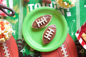 Nutella football snacks