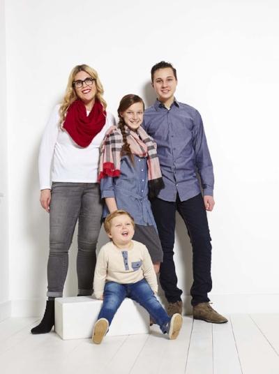 Stepmom Kim Carter and her blended family