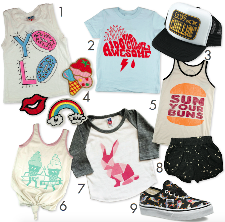 Graphic T-shirts and more for kids