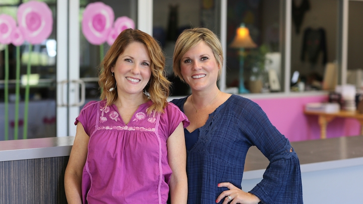 (From Left) Britney Spees and Sarah Adams, founders of Mamie's Poppy Plates.