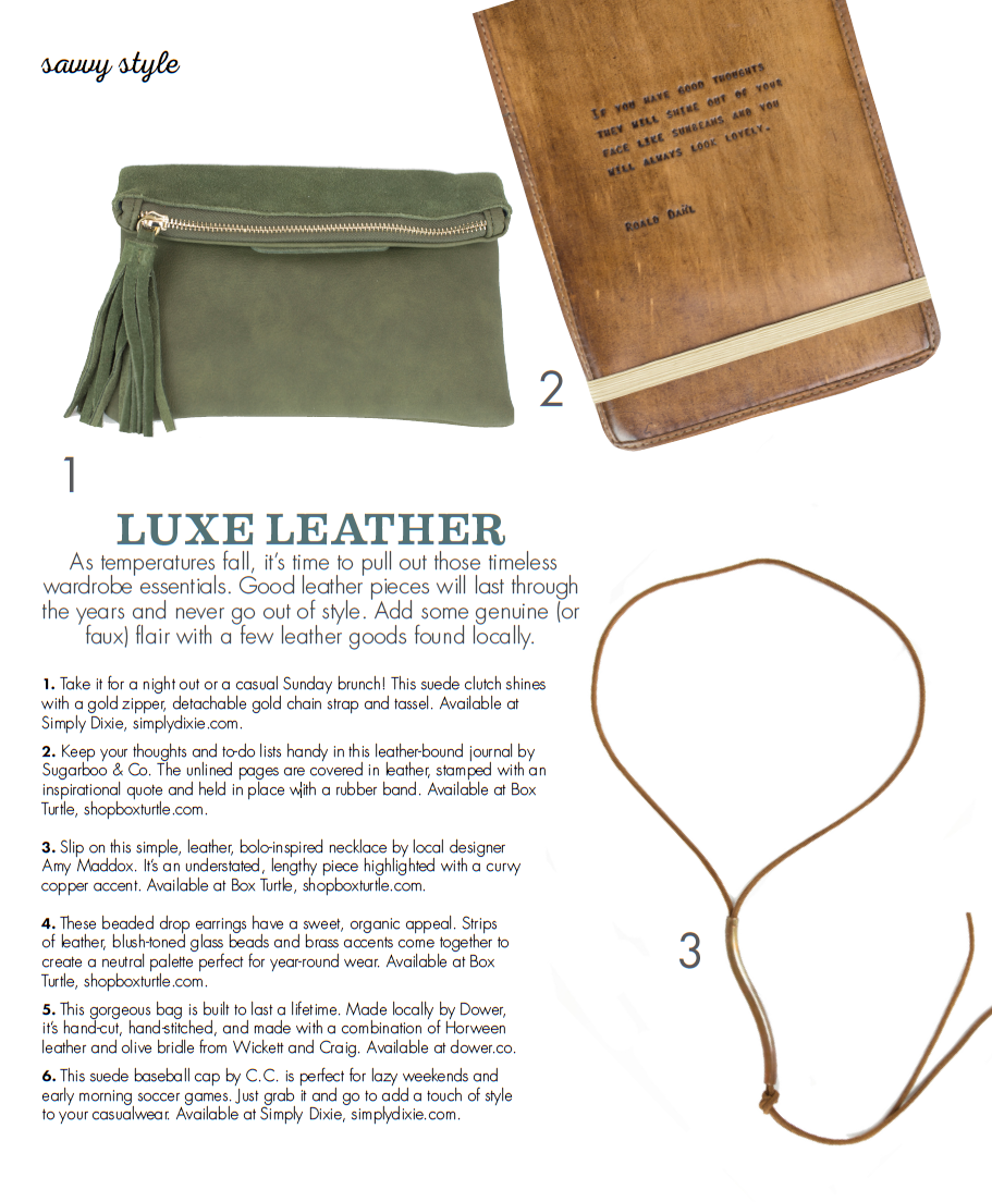 Luxe leather accessories
