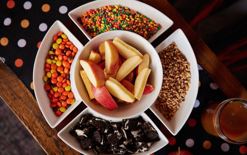 Caramel Apple Bar Halloween party idea