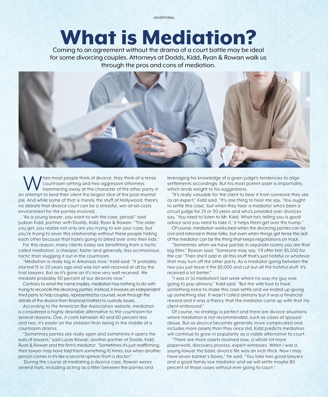 Mediations advice