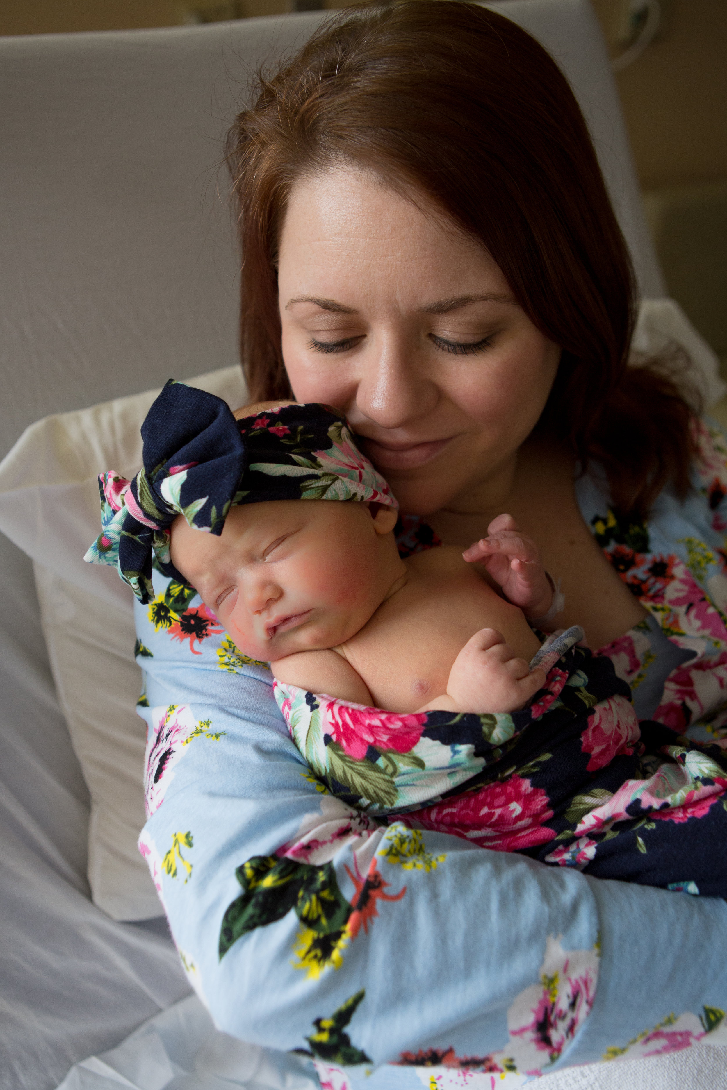 """AFTER WEEKS OF BEDREST AND A SLIGHTLY BUMPY PREGNANCY, THE GRIMES FAMILY WELCOMED Florence Elizabeth """"Birdie"""" IN March."""