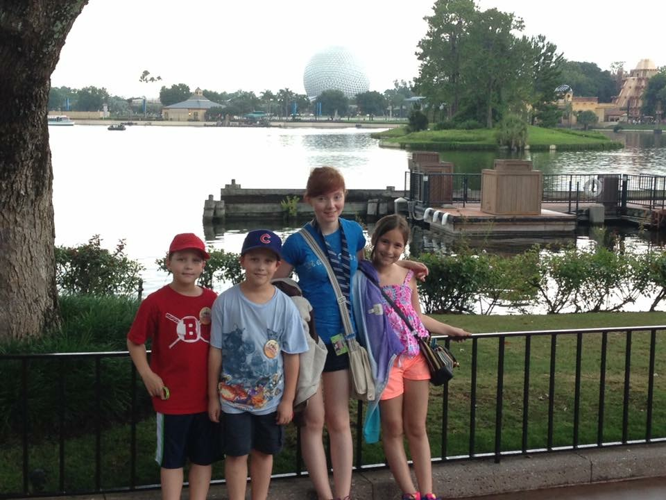 Max, Alex, Spenser and Brenna Biernacki on a family trip for Spenser's high school graduation.
