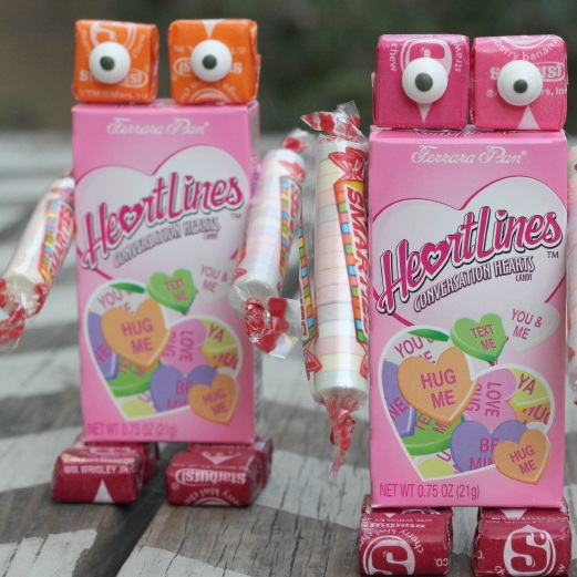 Valentine parties are a big deal in elementary school. If you volunteer for the craft, try these valentine robots!