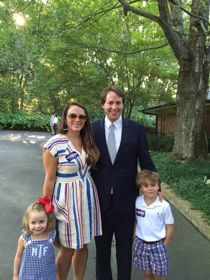 the tucker family at a campaign event.