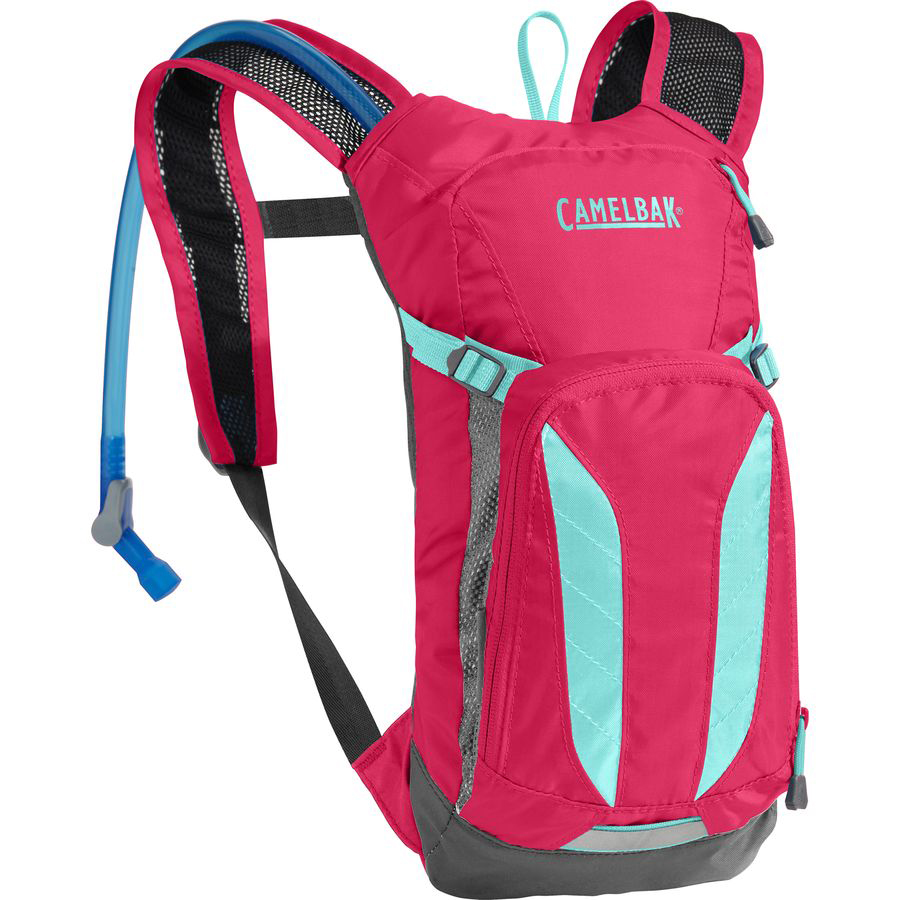 Our kids love this Camelback Mini Mule, a small backpack with a hydration bladder. It helps them carry their snacks and a few extras, but the main thing is it holds water. Having them carry their own provisions has been important.