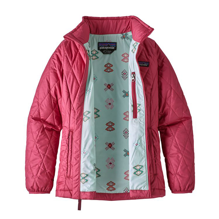 The Patagonia Girls Nano Puff Jacket is tried and true. It is thin, soft and super warm even on the coldest Arkansas day, and they pack down into their chest pocket to take up almost no space in your bag.