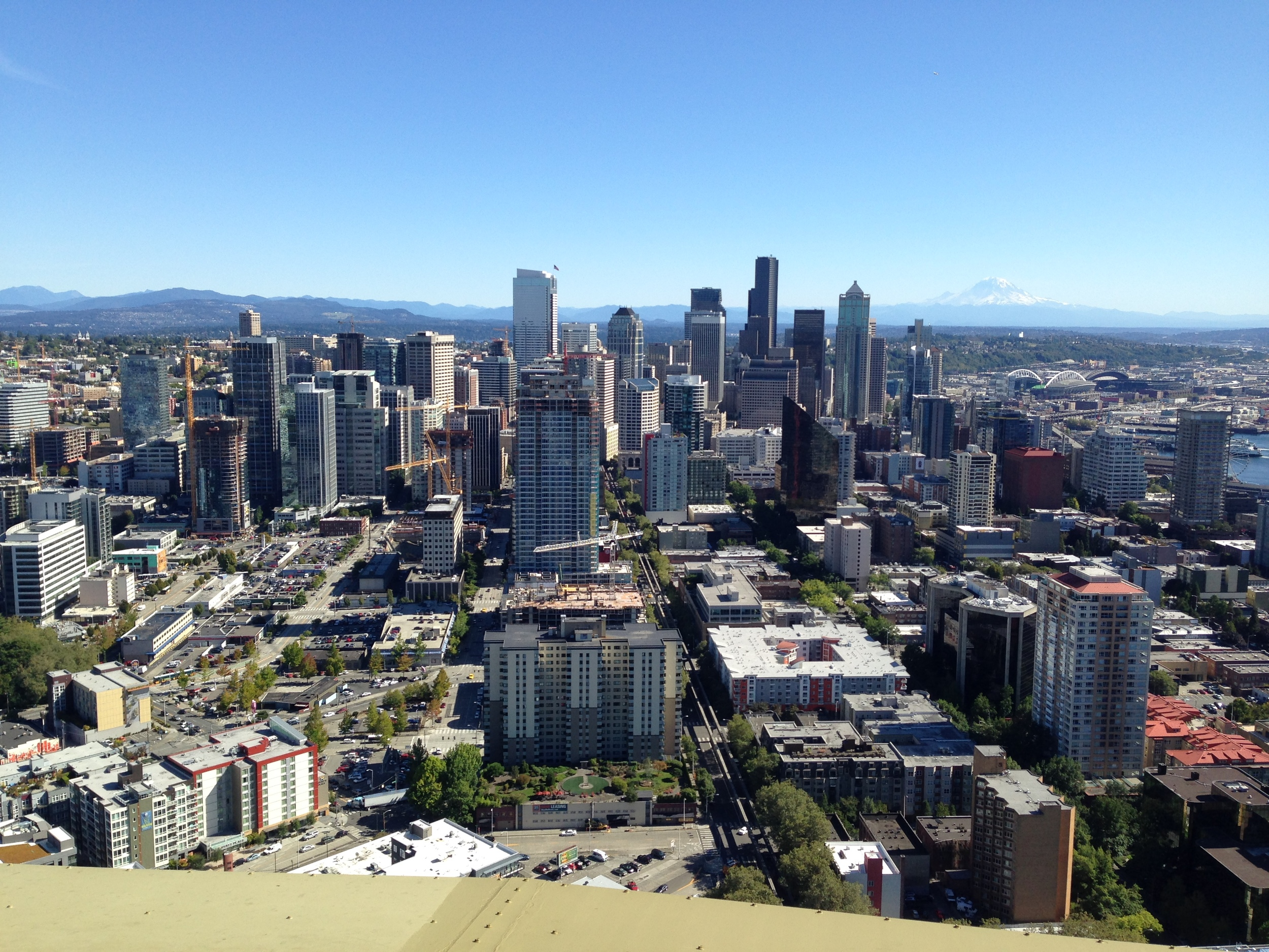 Seattle Skyline from the Space Needle - by Riet Mortier