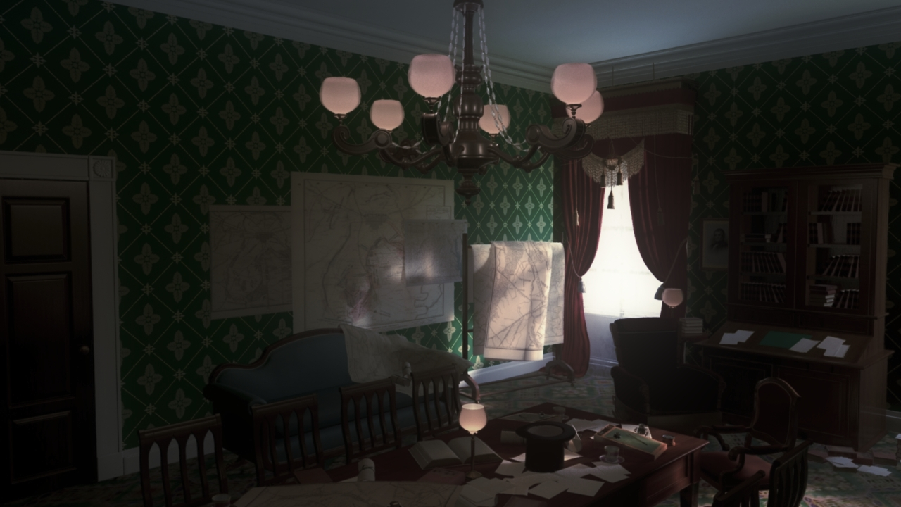 Lincoln's office After Color Correction