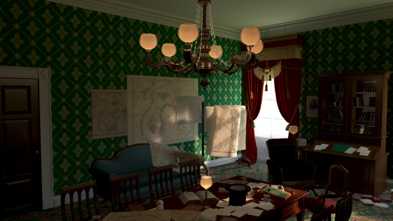 Lincoln's Office Before Color Correction