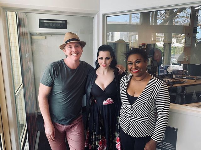 Thank you so much @mattwebberwrite of ABC Gold Coast having us in to chat about all things Aretha ahead of next Friday's performance at @twin_towns! If you catch the segment on 91.7fm, Angie & Sean also do a little teaser! 🎶🎵#respect #respectshow #twintowns #mattwebber #abc #abcgoldcoast #aretha #arethafranklin #interview #radiointerview