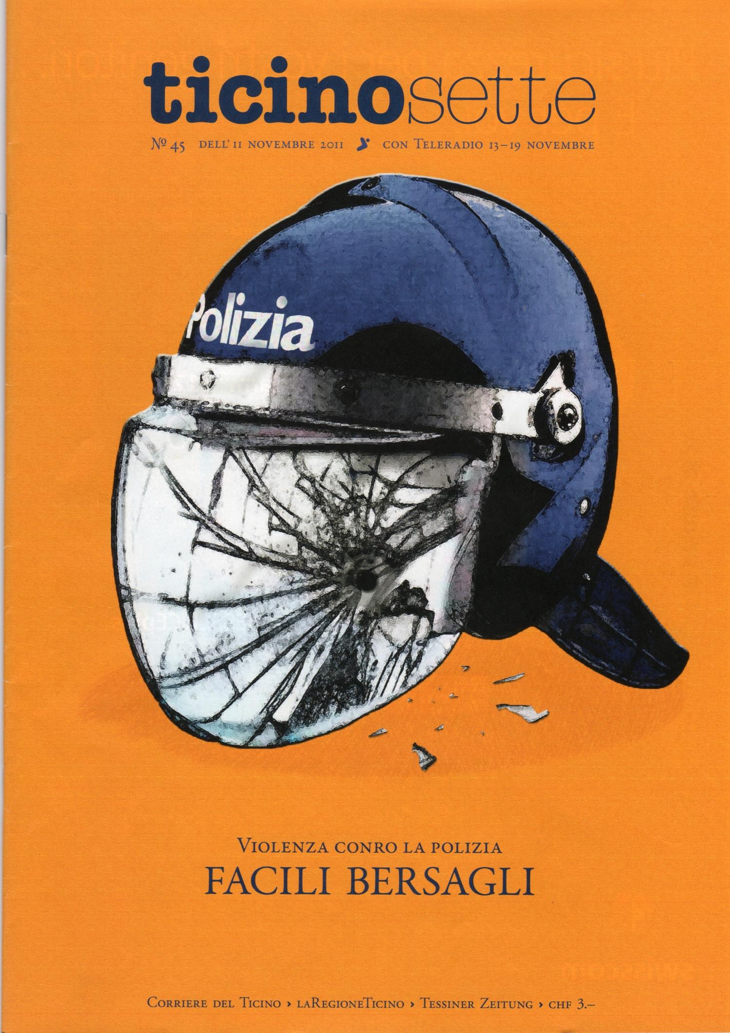Illustrazione editoriale per la copertina di Ticino Sette