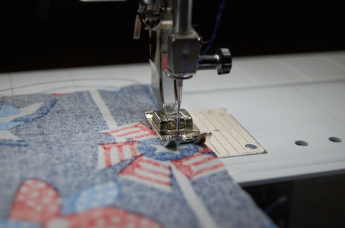 Figure 6: sewing a flag together