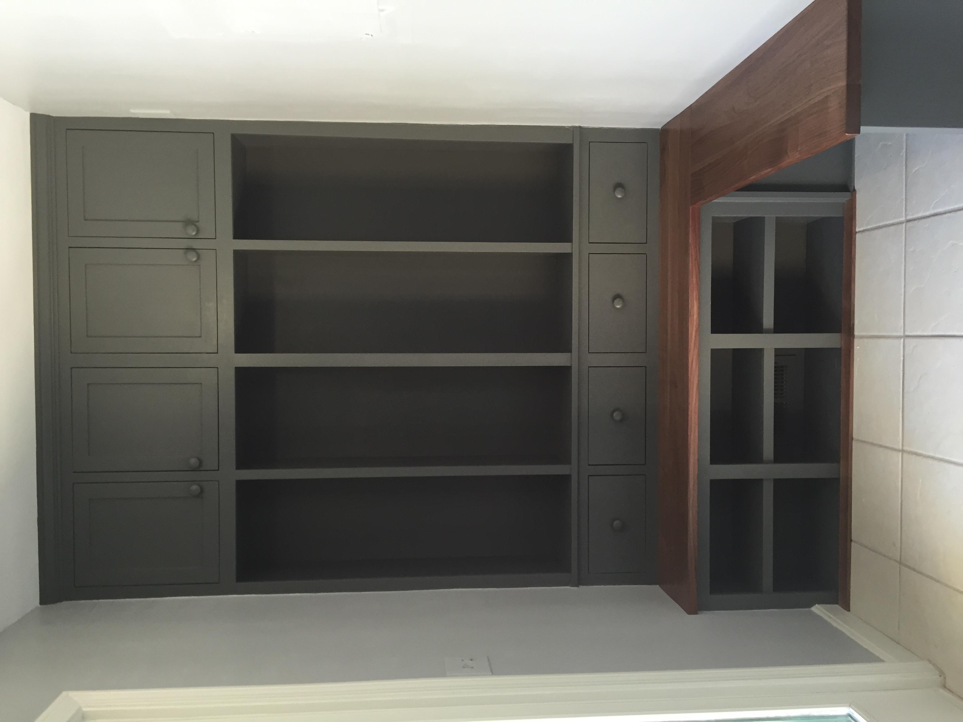 Walnut Mudroom Cabinetry