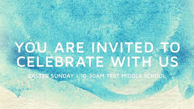 WE ARE EXCITED TO CELEBRATE EASTER AT LIFTED CHURCH! Take this image and start inviting friends, family, and strangers!