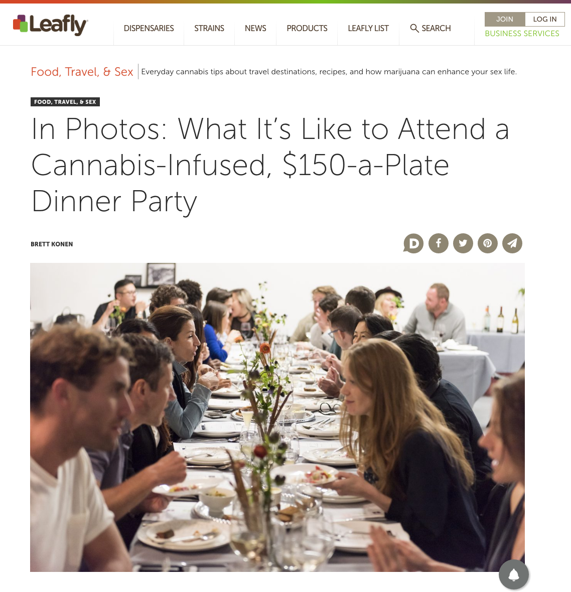 Leafly Dinner Exclusive