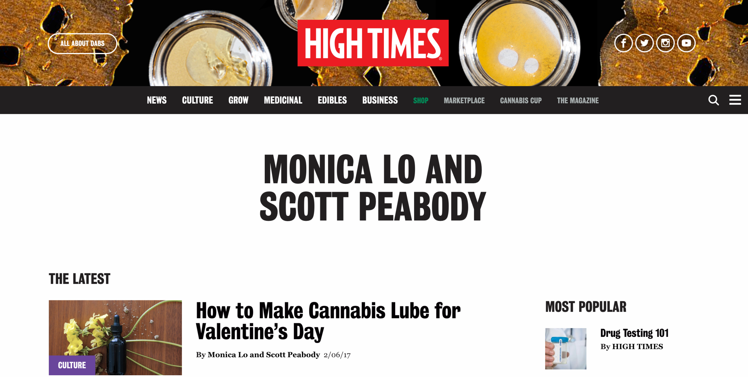 HIGH TIMES Feature
