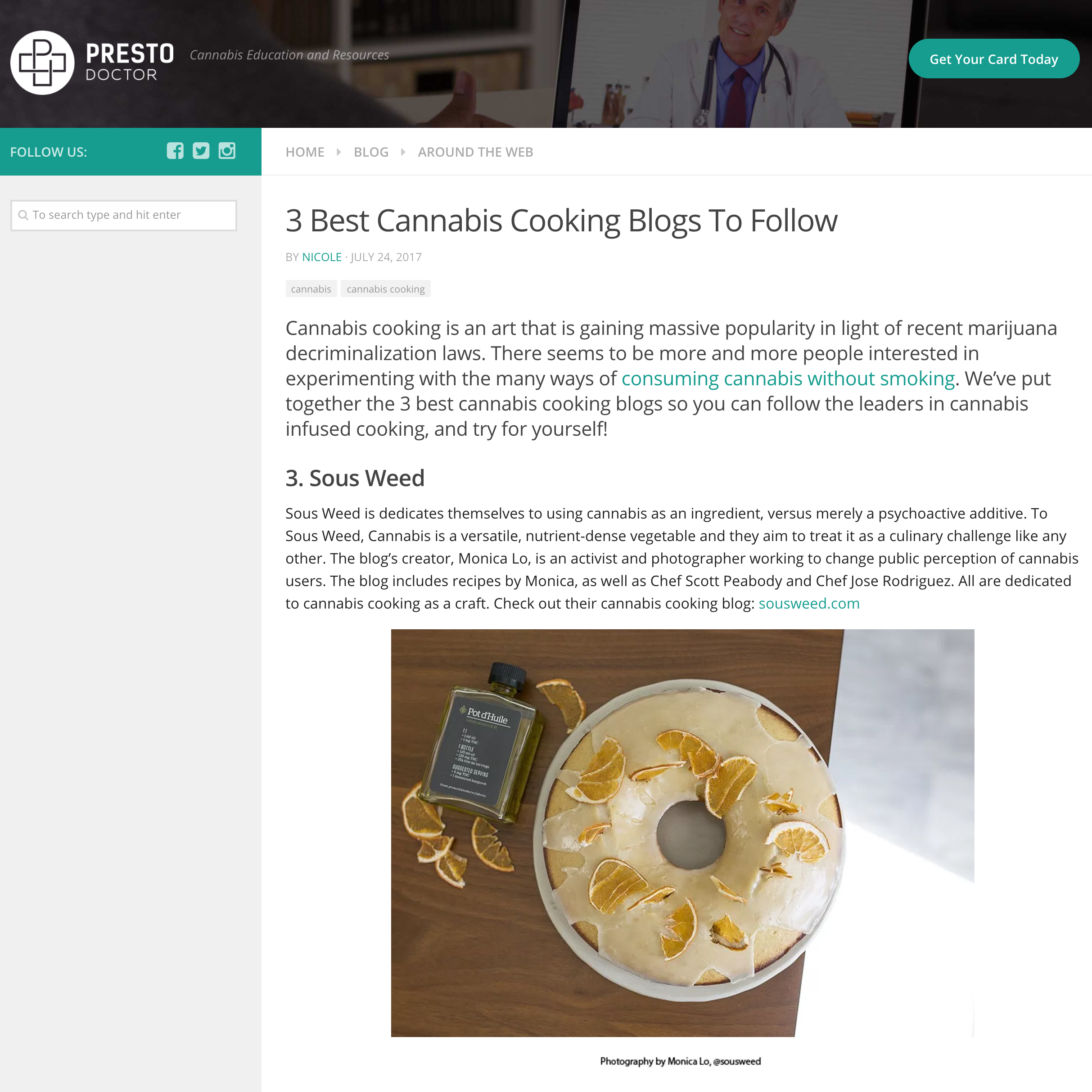 Top 3 Best Cannabis Cooking Blogs