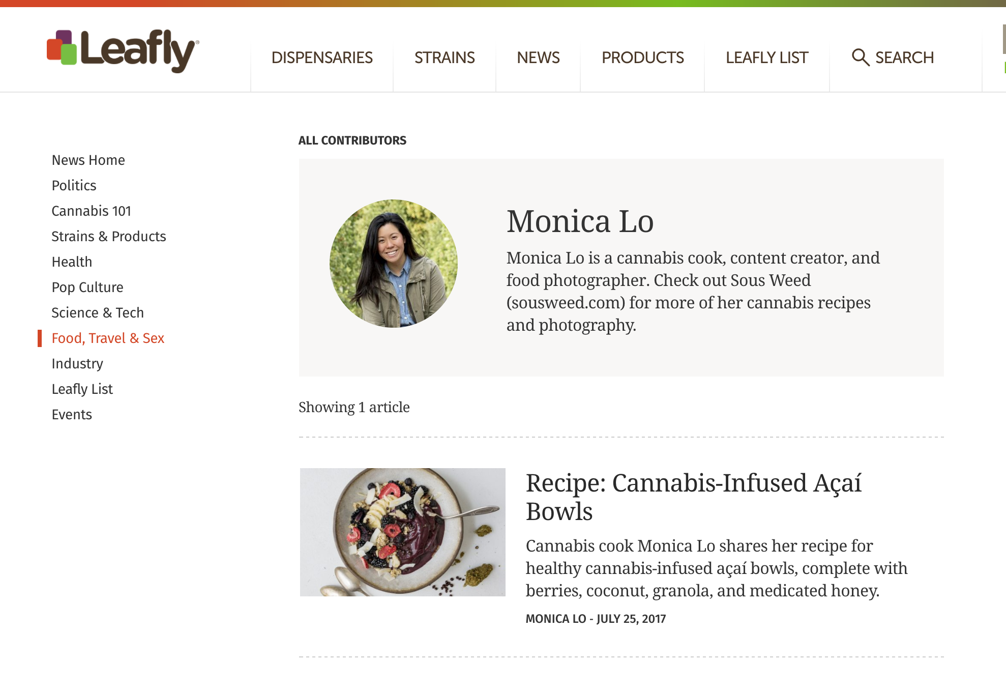 Leafly Contributor