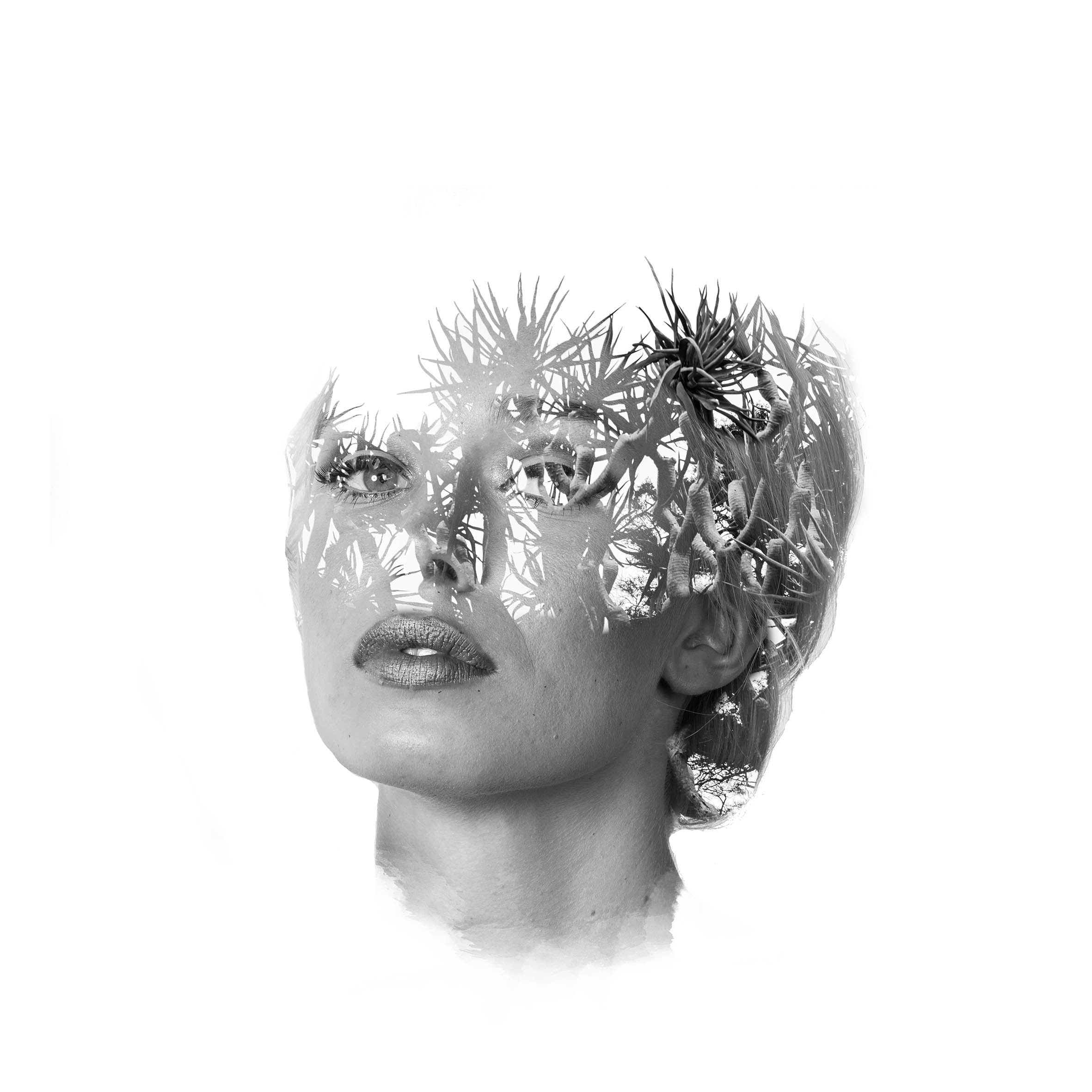 Luna Hyde Model portrait double exposure by Andy Miao