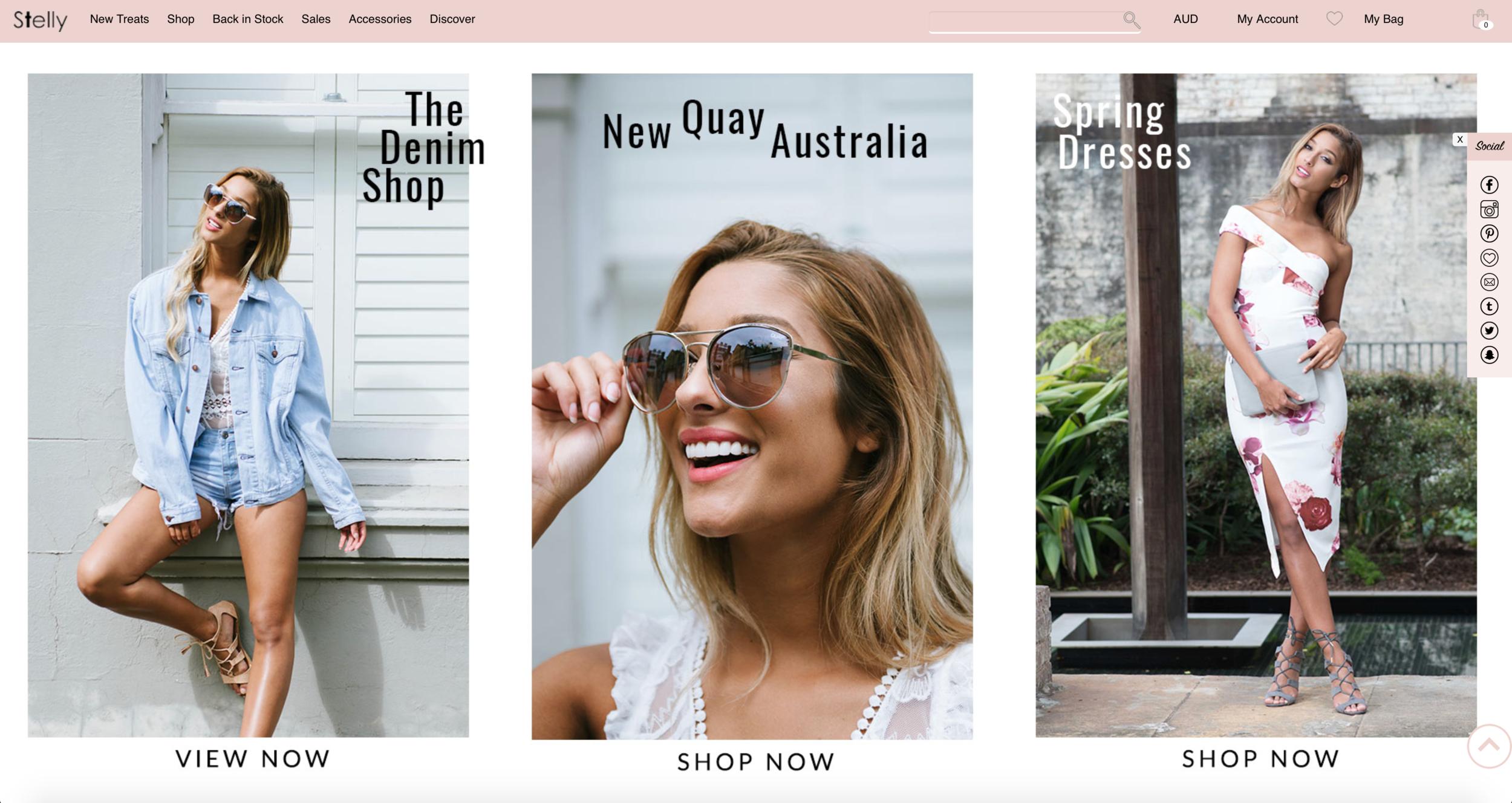 Stelly.com.au e-commerce