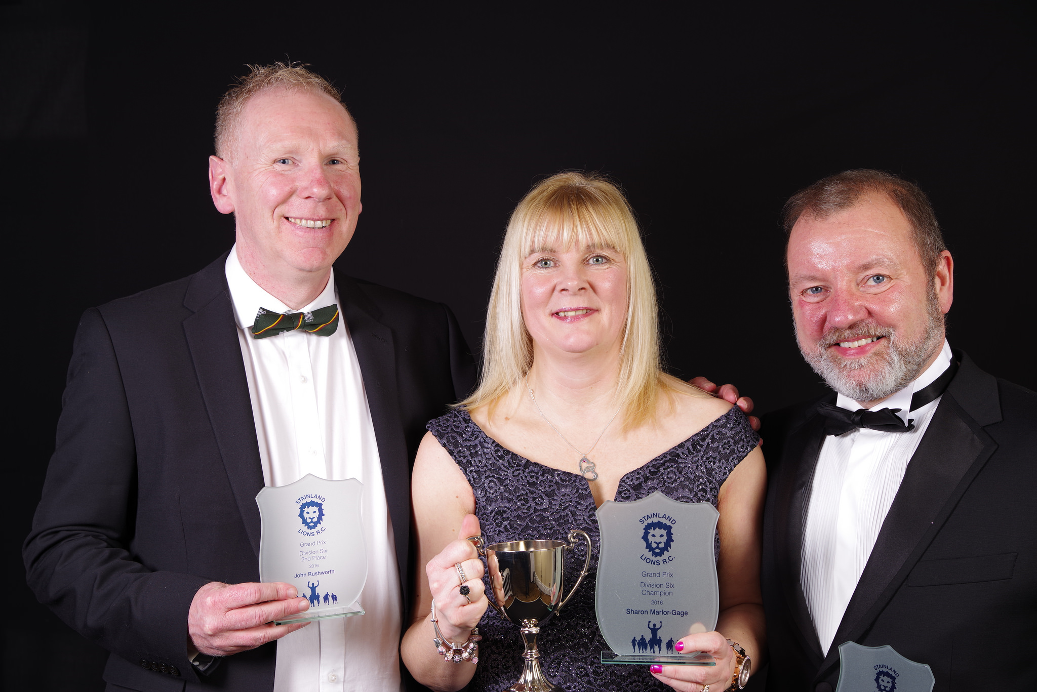 Left to Right: John Rushworth (2nd place), Sharon Marlor-Gage (1st place), Graham Robertshaw (3rd place)