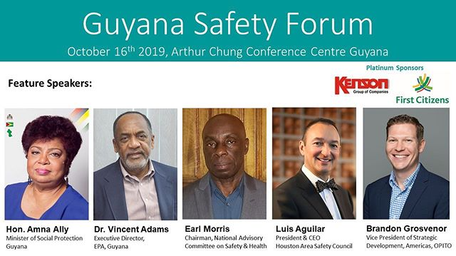 Join us for the 2nd annual Guyana Safety Forum on October 16th 2019