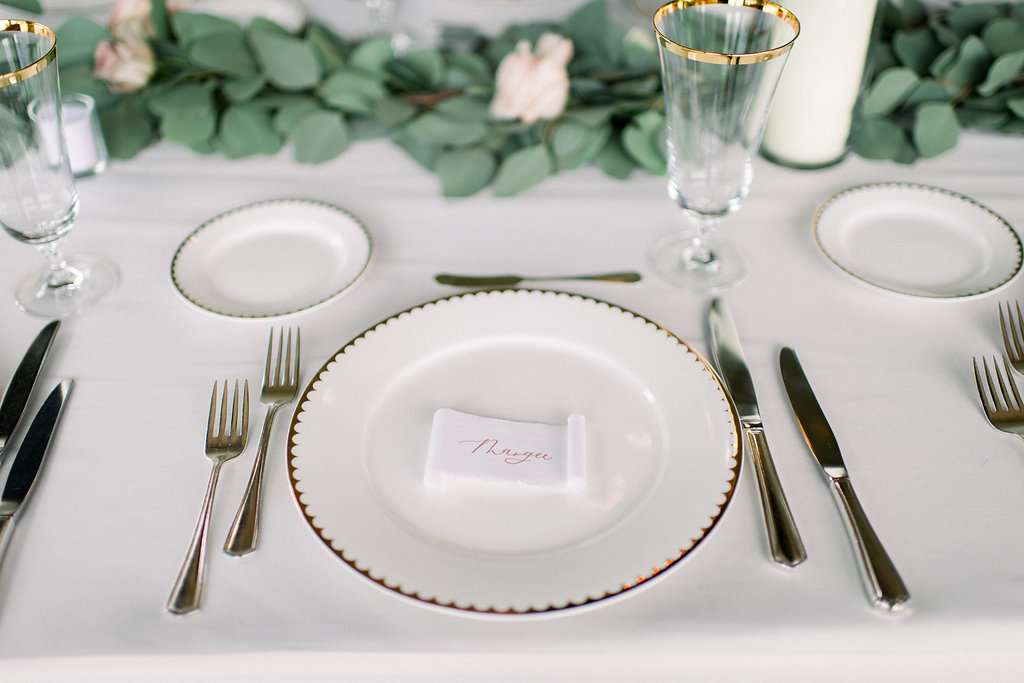 calligraphy place card scrolls