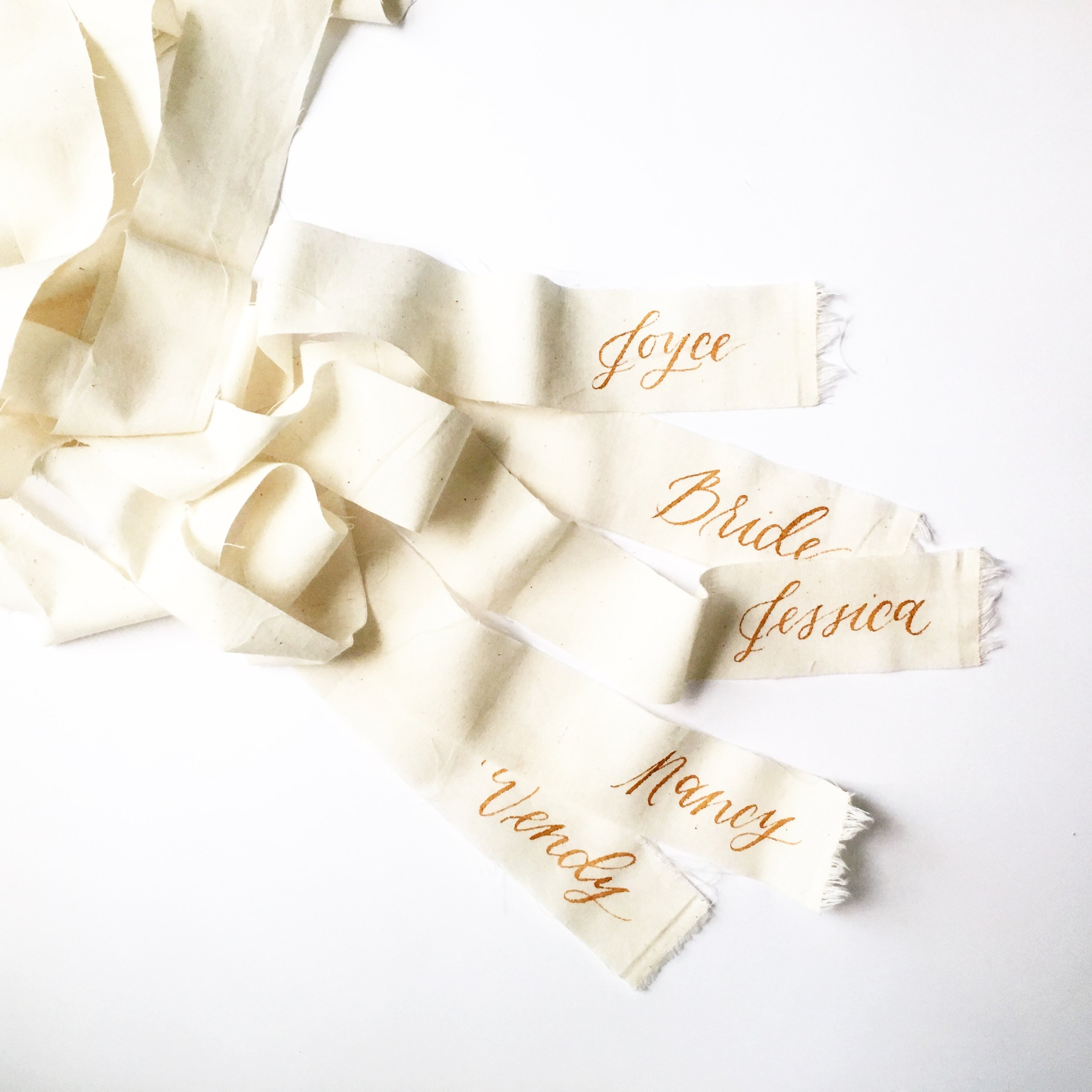 calligraphy name ribbons